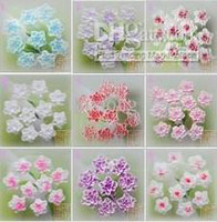 Wholesale Nail Art Ceramic Flower - Wholesale - nail art 3D soft ceramic rose flower 9mm 100pcs lot Free Shipping