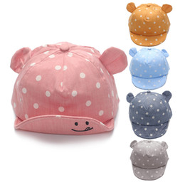 infant spring hats for boys 2019 - Girl Boys Cap Summer Hats For Boy Infant Sun Hat With Ear Sunscreen Baby Girl Hat Spring Baby Accessories cheap infant s