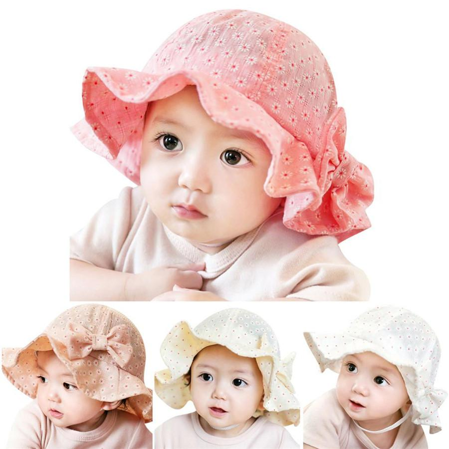 eb4dd474433 Baby Hat Toddler Infant Sun Cap Summer Outdoor Baby Girl Floral ...
