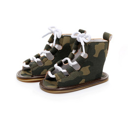 Chinese  Multicolor Baby roman lace up sandals Infants boys girls summer sling-back High shoes cute summer retro fashion heudauo first walkers manufacturers