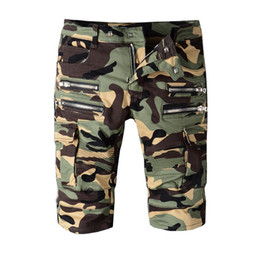 Pantalons Cargo Frais Pour Hommes Pas Cher-Hommes Cool Camouflage Cargo Robins Shorts Hot Sale Casual Men Short Pantalons Marque Vêtements Confortable Camo Mens Longueur au genou Robin Jeans Short