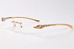 Wholesale Sunglasses Spot - free shipping men designer buffalo horn glasses 2017 brand spot leopard panther women sunglasses with boxes eyewear