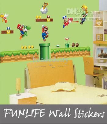 Funlife 70x110cm Boy S Room Retro Super Mario