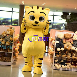 Wholesale FUMAT Cat Tiger Cartoon Mascot Details about Lovely Star Costume Halloween Christmas Party Fancy Dress With Fan Picture Sample Customization