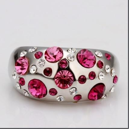 Кольцо Диаманта кольца белого золота 18K кристаллическое точное независимое мешок PP коробки ювелирных изделий опционный