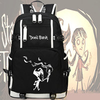 Wholesale free character games - Dont starve backpack Canvas daypack Free shipping schoolbag Game rucksack Sport school bag Outdoor day pack