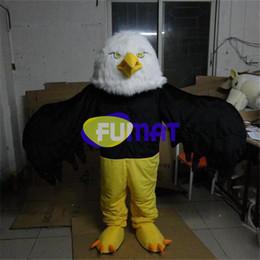 Desenhos animados do traje da mascote da águia on-line-FUMAT Bald Branco Águia Pássaro Dos Desenhos Animados Gargantilha de Águia De Pelúcia Animado Trajes Da Mascote Roupas Andando Desempenho Roupas Imagem Personalização