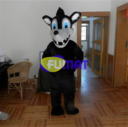 Échantillon De Costumes Pas Cher-FUMAT Fierce Wolf Mascot Costumes Cartoon Animal Wolf Mascot Costumes Fancy Dress Halloween Taille adulte Wolf Picture Sample Personnalisation