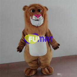 Halloween Costume Lion Canada - FUMAT Adult Size Cute Lion Costume Halloween Christmas OEM Cartoon Mascot Clothing Party Fancy Dress Picture Customization