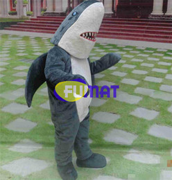Costume mascotte degli squali adulti online-FUMAT Adult Size Cute Grey Shark Costume Halloween Christmas OEM Cartoon Mascot Clothing Party Fancy Dress Picture Personalizzazione