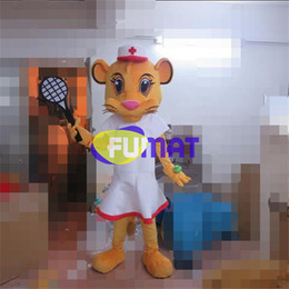 Halloween Costume Lion Canada - FUMAT Professional Animal Lion Doctor Mascot Costume Doctor Lion Cartoon Adult Size Fancy Dress For Party Halloween Christmas Customization