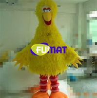 ingrosso grandi costumi della mascotte d'uccello-FUMAT New Yellow Big Bird Costume Mascot Sesame Street Giallo Big Bird Costume mascotte Stage Performance Abbigliamento Immagini Personalizzazione