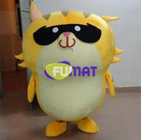 ingrosso personaggi del fumetto gatto giallo-FUMAT Cute Cat Mascot Costume adulto dimensione Cartoon mascotte animale gatto giallo abbigliamento personaggio dei cartoni animati costumi personalizzazione indumento bambola