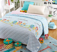 quilting quilts achat en gros de-Hot Sale Owl Flower Imprimé Summer Quilt Blanket Single Twin Full Queen King Size Textile à la maison Couette housse de couette matelassé MFLQ7