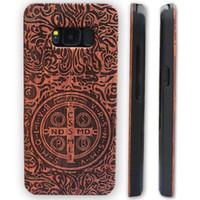 couverture en bois galaxy s5 achat en gros de-Cas de gravure laser Pour Iphone Case 6 6s 7 plus bois Bamboo Wood téléphone Housse de protection pour Samsung Galaxy S8 plus S7 S6 edge S5