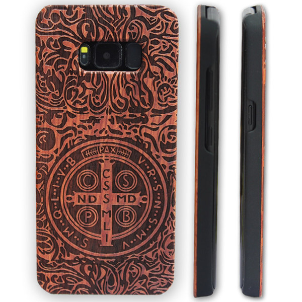 Laser engraving phone case For Iphone Case 6 6s 7 plus Wood Bamboo Wood phone Cover case for Samsung Galaxy S8 plus S7 S6 edge S5