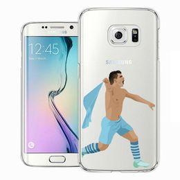 superestrellas de futbol Rebajas Hot Famous Soccer Sport Stars Soft tpu Clear football superstar caja del teléfono para Samsung Galaxy Note5 S7 cubierta posterior transparente freeshipping