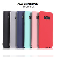 Wholesale Capa Galaxy - Candy Colors Phone Cases For Samsung Galaxy S8 Ultra Thin Soft TPU Silicon Case Back Cover Capa Coque For Samsung S8 Plus