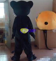 ingrosso vestiti neri nuovi anni-FUMAT Cartoon Leopard Mascot Costume Black Leopard Mascot Party Dress Natale Capodanno costumi Personalizzazione dell'immagine