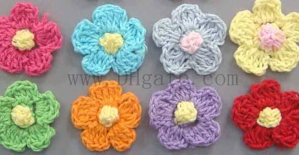 2018 Handmade Crochet Flowers Hair Clips Handmade Crochet Flower