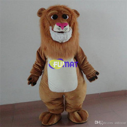 Lion Cartoons Canada - FUMAT Adult Size Cute Lion Costume Halloween Christmas OEM Cartoon Mascot Clothing Party Fancy Dress Sample Picture Customization