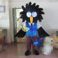 ingrosso immagini dell'uccello del fumetto-FUMAT Bird Mascot Crow Costume Cartoon Mascot Costume Black Bird Suit Fancy Dress Adult Size Picture Personalizzazione