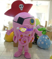 bilder rosa kostüm großhandel-FUMAT Rosa Krake Maskottchen Kostüme Tier Halloween Weihnachten Party Niedlich OEM Cartoon Kleidung Party Kostüm Bilder