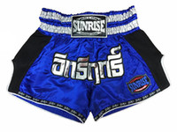 Mma Thai Pas Cher-Sunrise 2017 New Release Hommes MMA Shorts Grappling UFC Kick Boxe Short Homme Muay Thai Pantalons Gym Wear Shorts de boxe thaïlandais