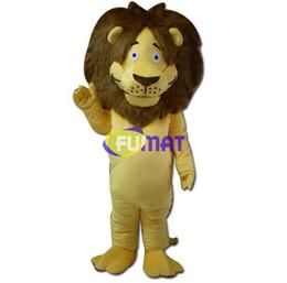 Fumat aslan maskot kostüm fabrika satış mağazaları yüksek kaliteli karikatür cadılar bayramı fursuit fantezi dress resim özelleştirme cheap fursuit costumes nereden kıyafet kostümleri tedarikçiler