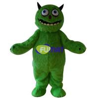 bilder lange haare großhandel-FUMAT Details über langes Haar grünes Monster-Maskottchen-Kostüm Halloween-Party-Kostüm Kostüm-Bilder