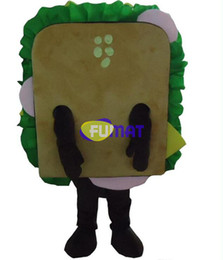 Wholesale Shop Mascot Costumes - FUMAT Factory Outlets Sandwich Food Mascot Costumes Restaurant Bread Shop Promotion Cartoon Costume Pictures Customization