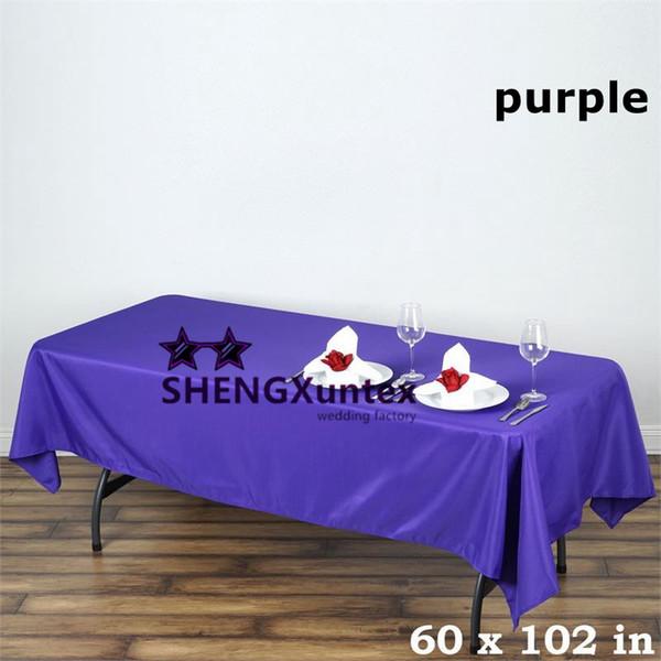 "Cheap Price 60""*102"" Rectangular Poly Table Cloth \ Wedding Tablecloth"