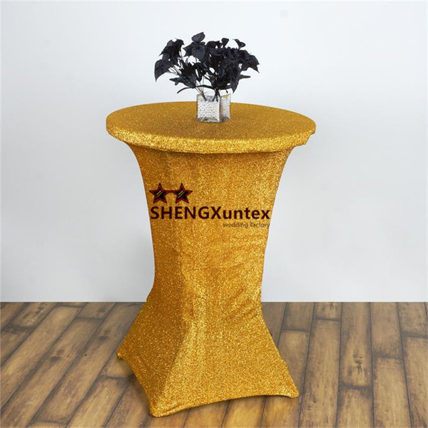 New Design Gold \ Silver Color Shiny Strech Cocktail Table Cover \ Wedding Table Cloth