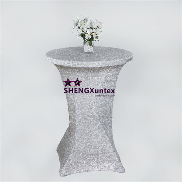 Gold Or Silver Color Shiny Strech Cocktail Table Cover \ Wedding Table Cloth