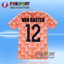 Wholesale Retro Xl - Retro Version 1988 European Cup Classic Vintage Netherlands home Soccer jersey best quality VAN BASTEN Gulitefan Basten football shirt