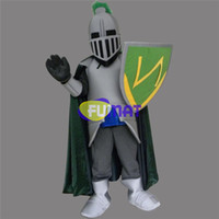 Wholesale Mascot Knight - FUMAT Green Knight Mascot Costume Warrior Knight Adult Size Fancy Dress Birthday Party Halloween Christmas Party Suit Picture Customization