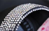 Wholesale Stickers Diamonds - 100PCS LOT 1012pcs 4MM Diamond Rhinestone Bling Cool Car Decals Stickers Decorative Strip