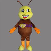trajes de formigas venda por atacado-FUMAT Marrom Formiga Mascote Animal Formiga Mascote Dos Desenhos Animados Traje Da Mascote Filme Papel de Roupas Para A Festa de Fantasia Vestido Fotos Personalização
