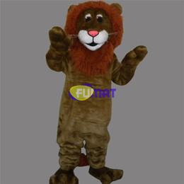 Halloween Costume Lion Canada - FUMAT Lion Mascot Costume Animal Lion Adult Size Fancy Dress Halloween Christmas Stage Performance Suit Pictures Customization