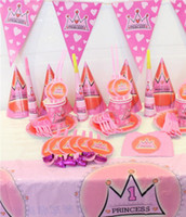 Wholesale sets of suits Birthday Theme Package Children party People Package Party Tableware Decoration Party Princess cartoon