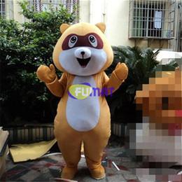 Fumat guaxinim mascote trajes animais urso dos desenhos animados trajes da mascote tamanho adulto festa de aniversário do dia das bruxas fancy dress fotos personalização de
