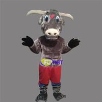 ingrosso avvolgere la pubblicità-FUMAT Brown Rhinoceros Mascot Costumes Animal Rhinoceros Costumi dei cartoni animati Costumi pubblicitari Fancy Dress Picture Customization