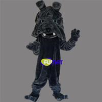 ingrosso i vestiti delle immagini del fumetto-Costumi Fumat della mascotte Black Dog animale della mascotte del fumetto del cane Costumes Advertising Costumes Pictures Party Fancy Dress di personalizzazione
