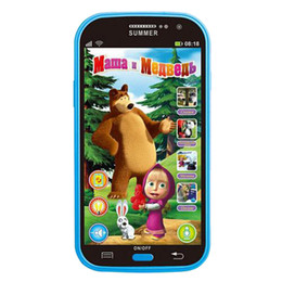 Wholesale Child Baby Telephone - Baby Mobile Phone Toy Masha And Bear Russian Language Kids Children Electronic Music Toys Cellphone Telephone Gifts For Baby 021