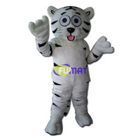 Wholesale Deluxe Tiger Costume - FUMAT Deluxe Tiger Mascot Costume Christmas Party Children Fancy Dress Factory Direct Animal White Tiger Mascot Pictures Customization