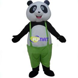 Verde vestito generale online-FUMAT Panda Mascot Costume adulto taglia verde tuta Cartoon Panda Mascot Abbigliamento per bambini Fancy Dress foto personalizzazione