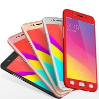 iphone корпус бокал для мобильного оптовых-Новый 360 градусов полное тело крышка телефона с закаленным стеклом роскошь для iPhone 5S 6 6SPlus чехол для мобильного телефона чехлы для iPhone 7 7plus бесплатно DHL