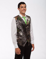 Wholesale Mens Formal Wear Fashion - Simple Camo Men's Wedding Groom Wear Mossy Oak Camouflage Mens Tuxedo Vests Camo 2017 New Custom Made size and color