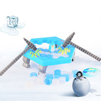 Wholesale Big Savings - Table Game Penguin Trap Hot Selling Ice Breaking Save Penguin Activate Family Game Buidling Blocks Toy Free Shipping
