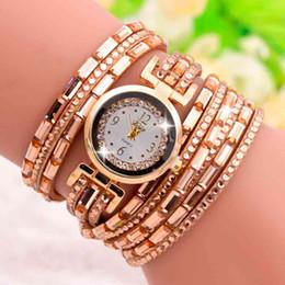 Wholesale Velvet Closure - Womens Watch Gold Rhinestones Korean Velvet Bracelets Button Closure Watches for Women Quartz Movement Alloy Case